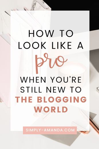 Beginner Bloggers: How To Look Like A Pro When You're Still New To The Blogging World • Simply Amanda