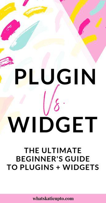 """The Difference between a WordPress """"Widget"""" and """"Plugin"""" - Katie Grazer Blog"""