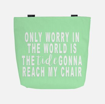 Knee Deep Tote Bag. Only Worry in the World. Zac Brown Band Quote. Jimmy Buffett Bag. Bachelorette Party. Gift for Her. Beach Bag. Cruise