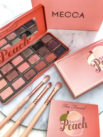 Beautiful Sweet Peach Eyeshadow Palette from Too Faced ad, cosmetics, makeup, beauty