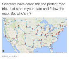 According To Science, This Is The Ultimate Road Trip Across The United States