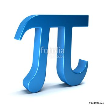 """Download the royalty-free photo """"Pi Number Mathematical Symbol on White Background. 3D Rendering Illustration"""" created by Fotolia365 at the lowest price on Fotolia.com. Browse our cheap image bank online to find the perfect stock photo for your marketing projects!"""