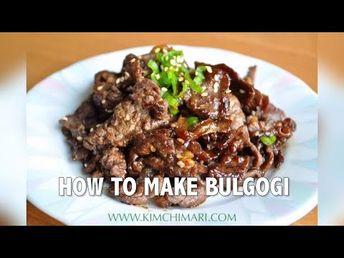 How to make Bulgogi (Korean BBQ Beef) - YouTube