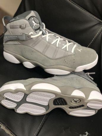 NEW Men s Air Jordan 6 Rings Matte Silver White-Cool Grey Size 12 322992 dd33b677c