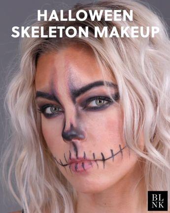 Halloween Skeleton Makeup Tutorial #EyeMakeupProm