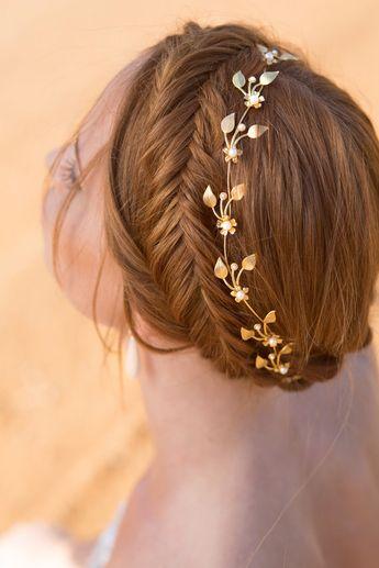 Gold Leaf headpiece, Bridal Headpiece Tiara