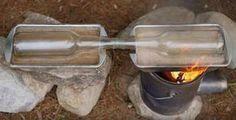 Fire up the heat source | How To Build A Salt Wate… Vist us: herosurvival.com #herosurvival #survival #guide #tip #diysurvivaltips