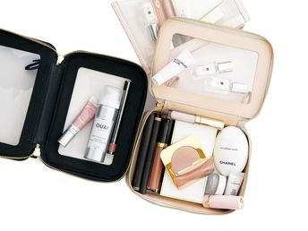 Truffle Clarity Jetset Cases and Mini Clarity Pouch   The Beauty Look Book