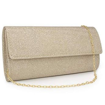 d76d93541a37 Details about Milisente Women Clutches Elegant Sequins Evening Bag Chain  Clutch Purse