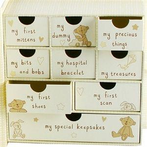 Baby Keepsake Box With Drawers