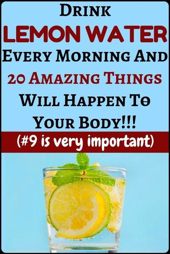 Drinking warm detox lemon water every morning will help you solve 20 amazing health problems - health and fitness...!