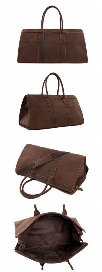 3c20c3ebba1 Handmade Large Vintage Full Grain Leather Duffel Bag Trave