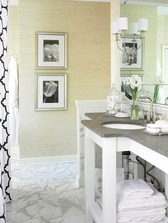 Open Vanity Bath Storage