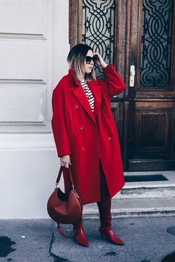 Colour Blocking wird einfarbig! Und: So kombiniere ich meinen roten Mantel!