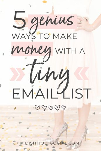5 Genius Ways to Make Money with a Tiny Email List - Dish It Out Social