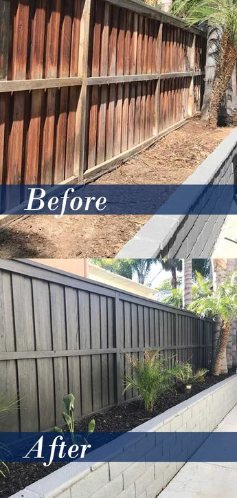 Fence and Block Retaining Wall Renovation