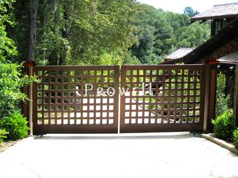 driveway fence | There is a decided difference between grids that overlap, such as ...
