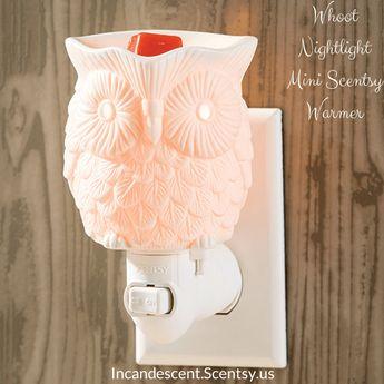 Whoot Nightlight Mini Scentsy Warmer Incandescent.Scentsy.us