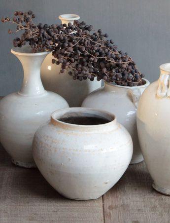 Mooie aardewerk potten