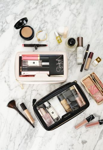The Daily Edited Transparent Cosmetic Case vs Anya Hindmarch Inflight Travel Case   The Beauty Look Book