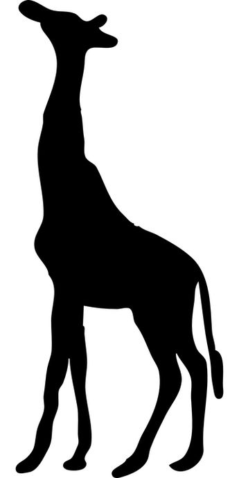 Free Image on Pixabay - Giraffe, Black, Silhouette, Tall