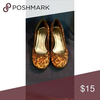Leopard Print Wedges Super comfortable wedges that were only worn twice! Some light scuffing on the side.   Perfect for date night or girls night out! Style & Co Shoes Wedges