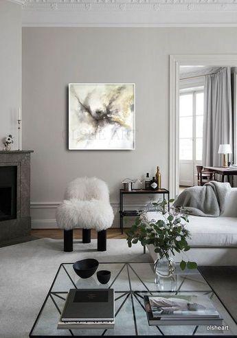 Original painting, acrylic abstract painting, modern art, art wall on canvas,original art,white,ston