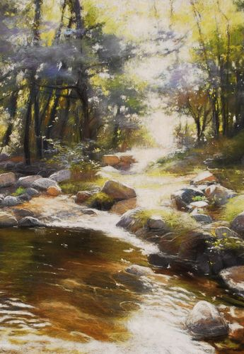Claude Carvin (pastel painting)