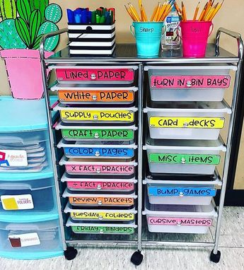 Love how @topoftheclipchart used my editable drawer labels in her classroom!! Grab a set of labels that matches your classroom theme in my store! Link in bio!! 💚✏️
