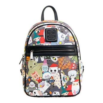 6d9f444f8f6 Loungefly The Nightmare Before Christmas Chibi Print Mini Backpack