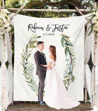 Greenery Wedding Photo Backdrop | Outdoor Wedding Backdrops