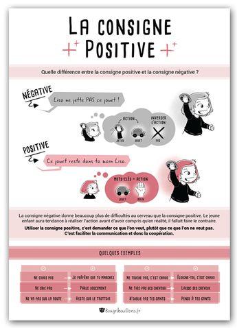 affiches petite enfance Bougribouillons - Consigne positive