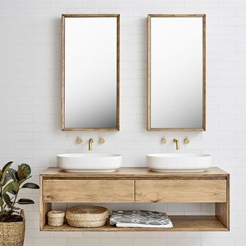 Loughlin Furniture Baxter Double Timber Vanity 1500mm - 1800mm