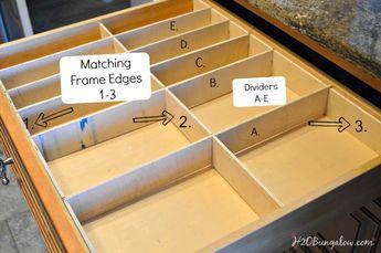 Easy DIY wood Drawer Dividers