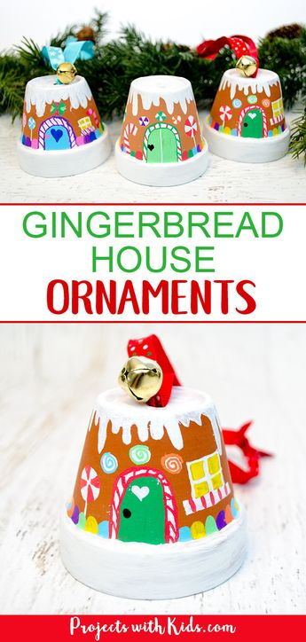 The Sweetest Gingerbread House Ornaments Kids Can Make