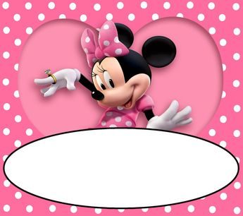 Use our printable Minnie Mouse invitation templates to make your unique invitations... For Free... Download, customize and add your wording to match your part