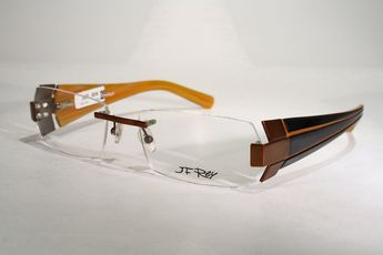 9d0a54af1061 Astonishing Rimless JF REY Copper Brown Black Eyeglasses Glasses Frames    Case   eBay (RipVanW