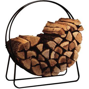 "Panacea Tubular Steel Log Hoop 40"" (Panacea 40"" Tubular Steel Log Hoop), Black"