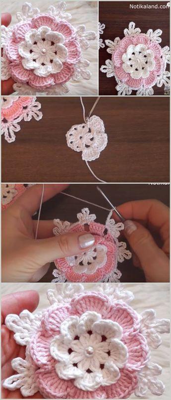 Easy Flower Free Crochet Pattern & Tutorial