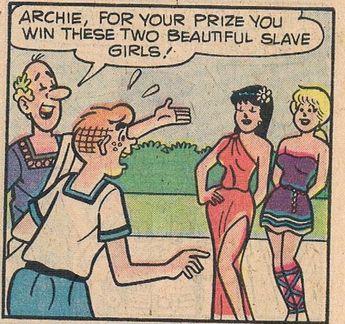 Archie Comics Retro Archie And Veronica Comic Panel Live