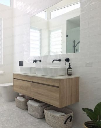 Details about ASTI | 1500mm WHITE OAK Timber Wood Grain Wall Hung Double Vanity w Stone Top