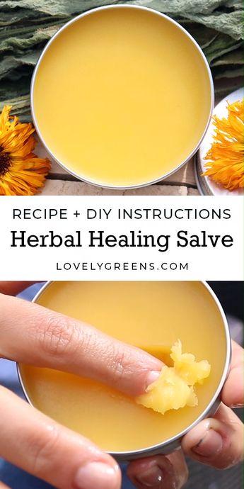 Herbal Healing Salve recipe + DIY instructions
