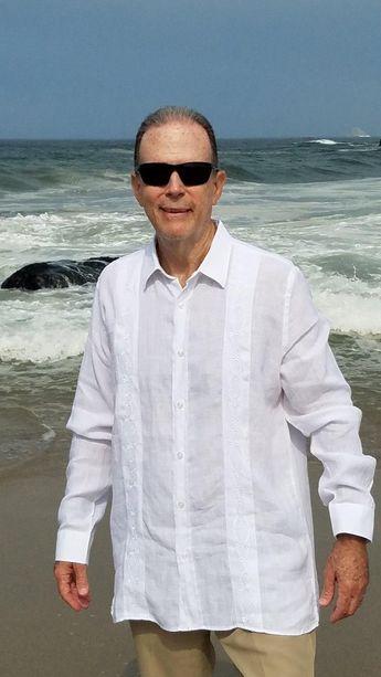 ee80952454 Cuban Shirt Long Sleeve Blue Dress Casual shirt Premium Jacquard Made