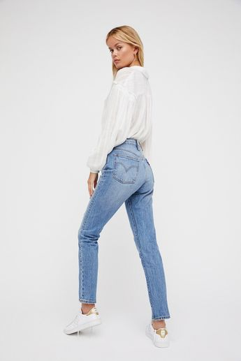 Levi's Post modern blues 501 Skinny Jeans at Free People Clothing Boutique