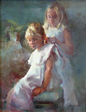 A Special Day by Michael Maczuga Oil ~ 20 x 16