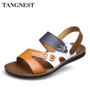 Tangnest 2017 Summer Fashion Man Sandals Beach New Mixed Color Slip-On Comfortable Man Casual Shoes Male Leisure Shoes XML228. Yesterday's price: US $38.67 (31.90 EUR). Today's price: US $19.34 (16.00 EUR). Discount: 50%.