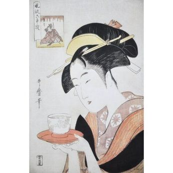 Portrait of Naniwaya Okita c1796 Canvas Art - Kitagawa Utamaro (18 x 24)