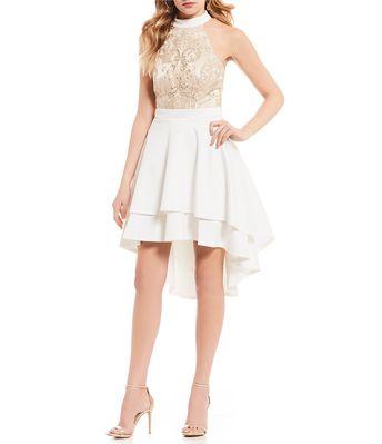 9207b06bae Shop for Terani Couture Deep V-Neck Lace Midi Dress at Dill