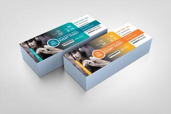 Modern Event Ticket Design Template 001610 - Template Catalog