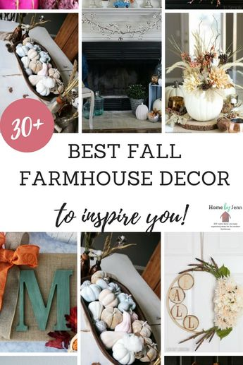 When decorating fall is one of my favorites because of the colors, textures, and all around warm feeling that the fall decor provides. In this post, I'm sharing over 30 different fall farmhouse decor ideas to help you with this fall. #falldecor #fallfarmhousedecor #decoratingforfall #falldecorating